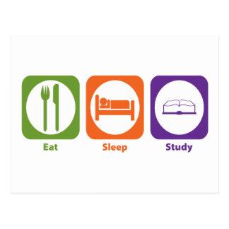 Eat Sleep Study Post Cards