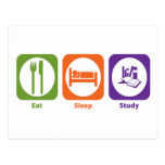 Eat Sleep Study Postcards