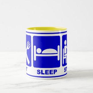 EAT SLEEP STUDY Two-Tone MUG
