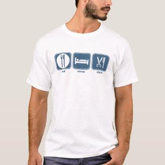 eat sleep style T-Shirt