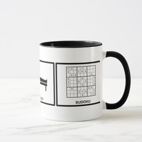 eat, sleep, sudoku mug