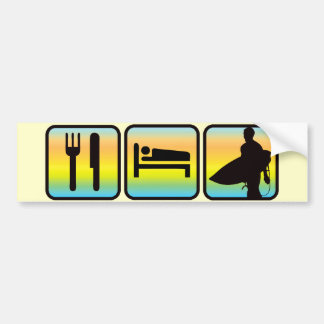 Eat, Sleep, Surf Bumper Sticker