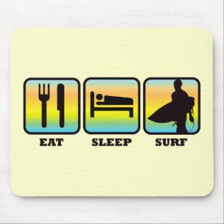 Eat, Sleep, Surf Mouse Pad