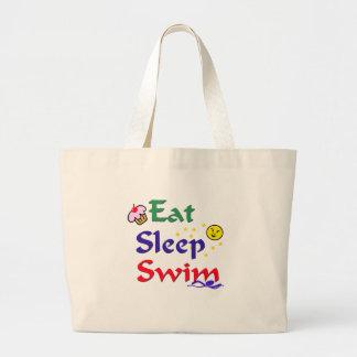 Eat Sleep Swim Canvas Bag