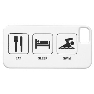 Eat Sleep Swim iPhone 5 Cover