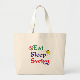 Eat Sleep Swim Large Tote Bag