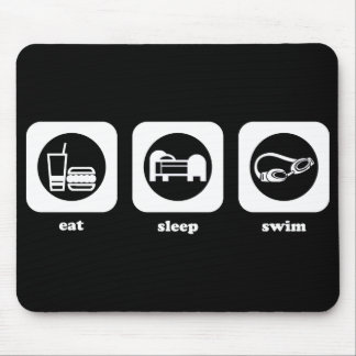 Eat. Sleep. Swim. Mousepad