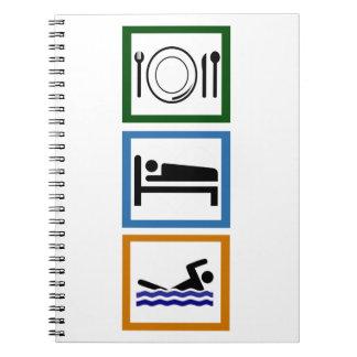 Eat Sleep Swim Notebooks