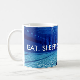 EAT. SLEEP. SWIM. REPEAT. COFFEE MUG