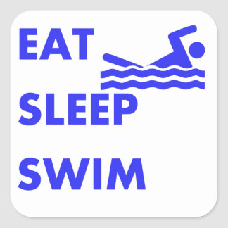 Eat Sleep Swim Square Sticker