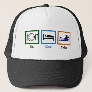 Eat Sleep Swim Trucker Hat