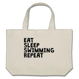 Eat Sleep Swimming Repeat Tote Bag