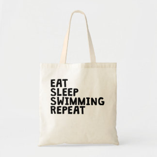 Eat Sleep Swimming Repeat Tote Bag