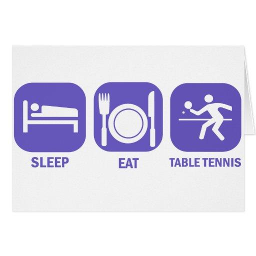 eat sleep table tennis card
