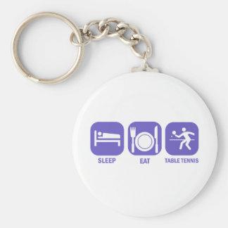 eat sleep table tennis key ring