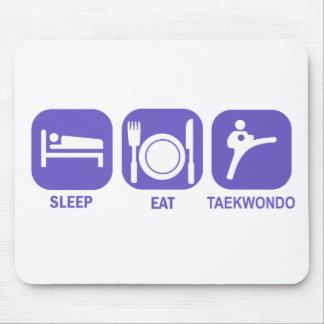 eat sleep taekwondo mouse pad