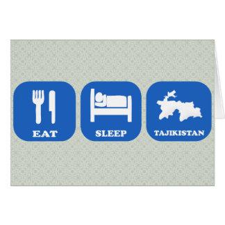 Eat Sleep Tajikistan Greeting Card