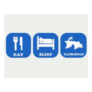 Eat Sleep Tajikistan Postcard
