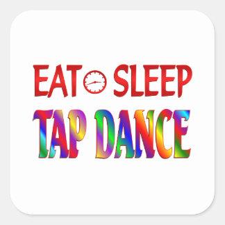 Eat Sleep Tap Dancing Square Sticker