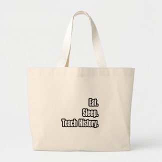 Eat Sleep Teach History Canvas Bags