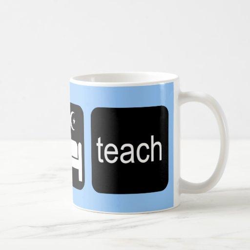 Eat sleep teach coffee mugs