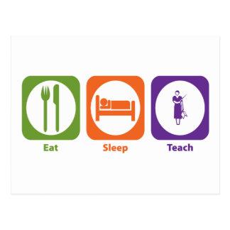 Eat Sleep Teach Postcards