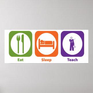 Eat Sleep Teach Poster
