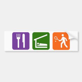 Eat Sleep Tennis Bumper Sticker