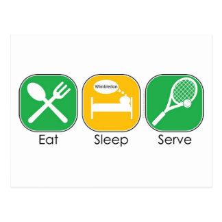 Eat Sleep Tennis Postcard