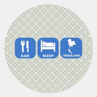 Eat Sleep Thailand Classic Round Sticker
