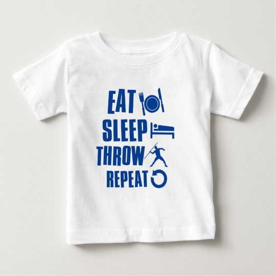 Eat sleep throw javelin baby T-Shirt