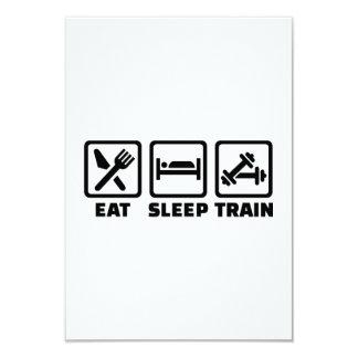 "Eat Sleep Train Bodybuilding 3.5"" X 5"" Invitation Card"