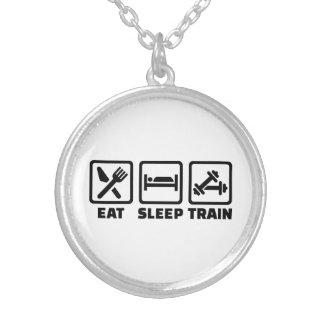 Eat Sleep Train Bodybuilding Pendant