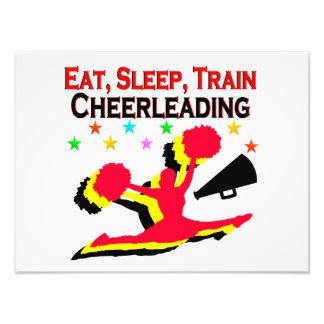 EAT, SLEEP TRAIN CHEERLEADING RED DESIGN PHOTOGRAPH