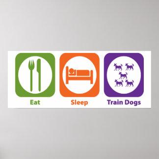 Eat Sleep Train Dogs Posters