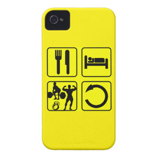 Eat Sleep Train Repeat Body Building Weight Lift Case-Mate iPhone 4 Cases