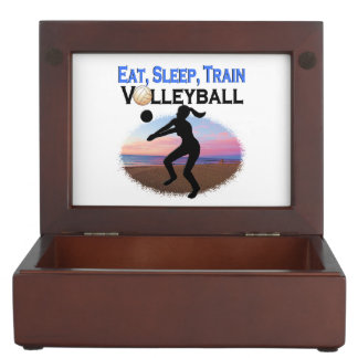 EAT, SLEEP, TRAIN VOLLEYBALL MEMORY BOXES