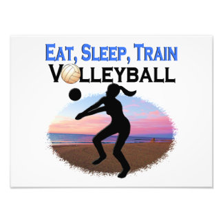 EAT, SLEEP, TRAIN VOLLEYBALL PHOTOGRAPHIC PRINT