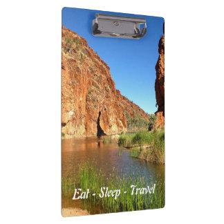 Eat Sleep Travel Central Australia clipboard