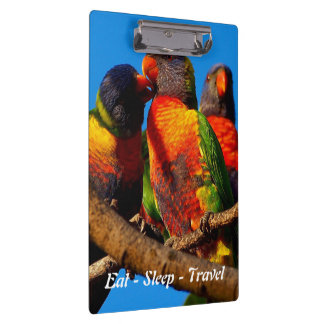 Eat Sleep Travel Rainbow Lorikeet clipboard