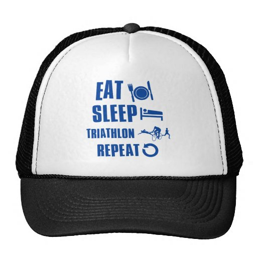 Eat sleep Triathlon Hats