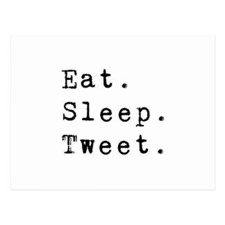 Eat Sleep Tweet Postcard
