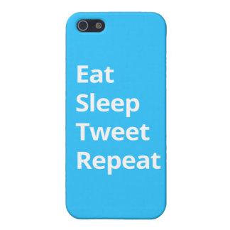 Eat Sleep Tweet Repeat - iPhone Case