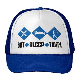 Eat Sleep Twirl Blue Trucker Hats