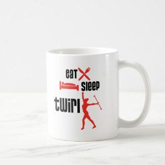 Eat Sleep Twirl Coffee Mugs