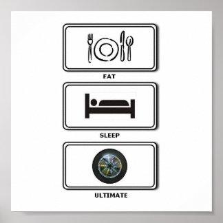 eat sleep ultimate poster