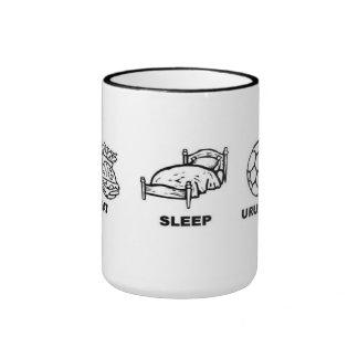 Eat sleep Uruguay soccer Ringer Mug