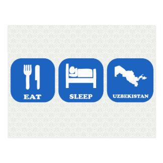 Eat Sleep Uzbekistan Postcard