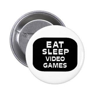 Eat Sleep Video Games Pinback Button