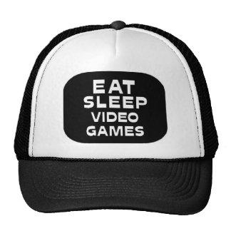 Eat Sleep Video Games Cap